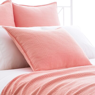 Kelly Matelasse Sham Size: European, Color: Coral