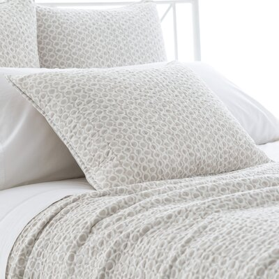 Tyler Quilted Sham Size: European, Color: Pearl Gray