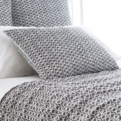 Tyler Quilted Sham Size: European, Color: Shale