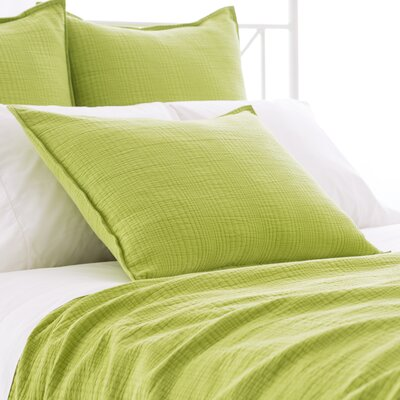 Kelly Matelasse Sham Size: Standard, Color: Green