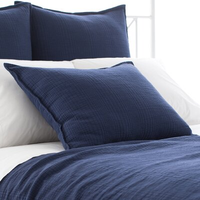 Kelly Matelasse Sham Size: European, Color: Indigo