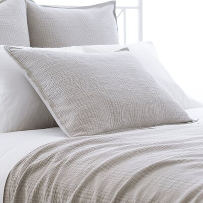 Kelly Matelasse Sham Size: European, Color: Pearl Gray
