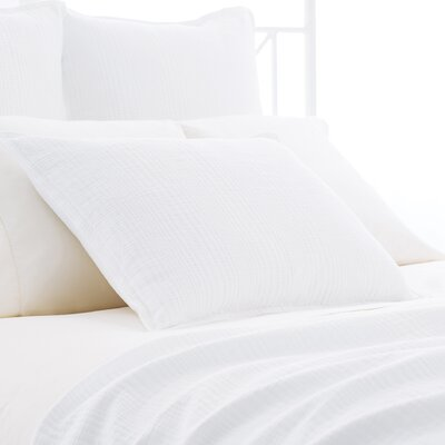 Kelly Matelasse Sham Color: White, Size: Standard