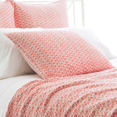 Tyler Quilted Sham Size: European, Color: Coral
