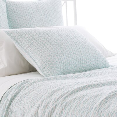 Tyler Quilted Sham Size: European, Color: Sky
