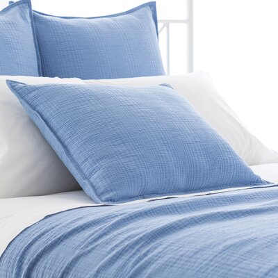Kelly Matelasse Sham Size: European, Color: French Blue