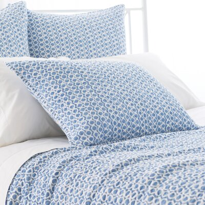 Tyler Quilted Sham Size: European, Color: French Blue