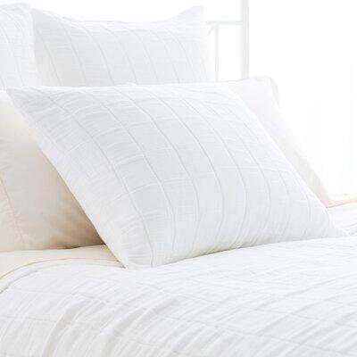Tribeca Matelasse Sham Size: European, Color: White