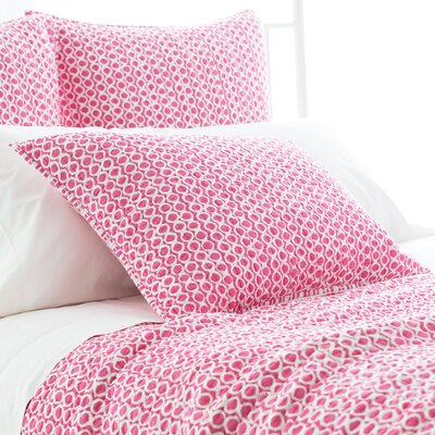 Tyler Quilted Sham Size: European, Color: Fuchsia