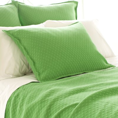 Diamond Matelasse Sham Size: Standard, Color: Grass Green