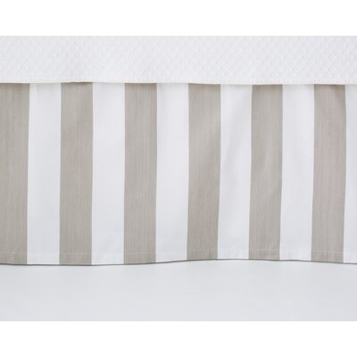 Alex Bed Skirt Size: King, Color: Linen