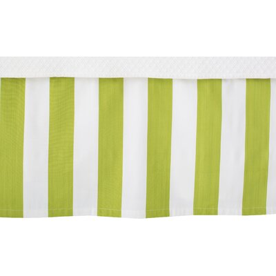 Alex Bed Skirt Size: Twin, Color: Green