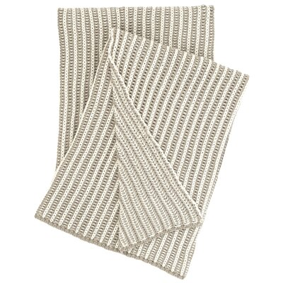 Cozy Knit Cotton Throw Color: Pearl Gray
