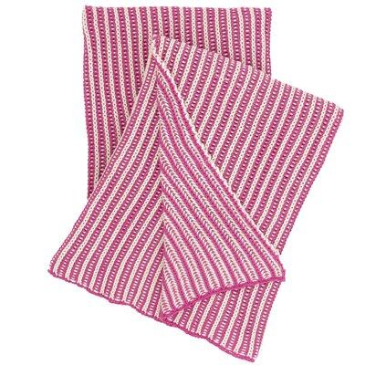 Cozy Knit Cotton Throw Color: Fuchsia