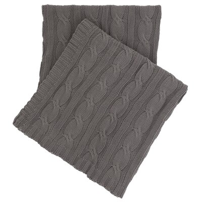 Comfy Cable Knit Cotton Throw Color: Shale