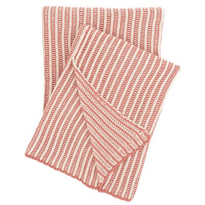 Cozy Knit Cotton Throw Color: Coral