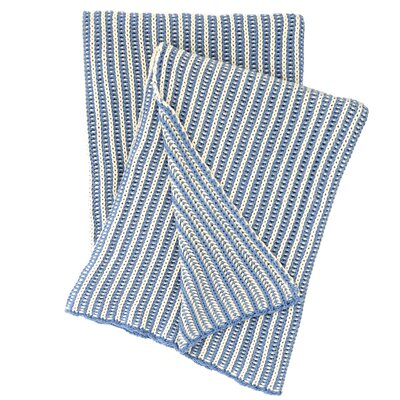Cozy Knit Cotton Throw Color: French Blue