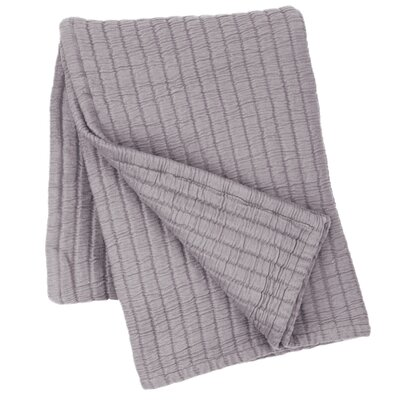 Boyfriend Matelasse Cotton Throw Color: Gray