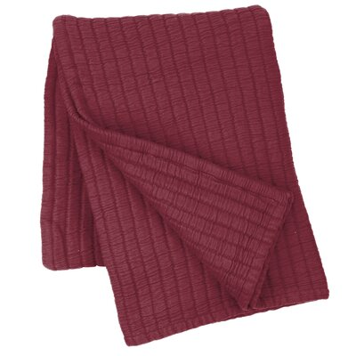 Boyfriend Matelasse Cotton Throw Color: Garnet
