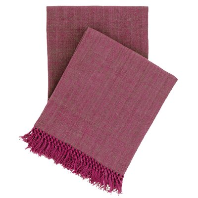 Laundered Cotton Throw Color: Boysenberry