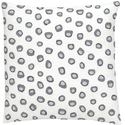 Thumbprint Throw Pillow Color: Shale and Pearl Gray