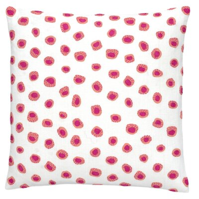 Thumbprint Throw Pillow Color: Coral and Fuchsia