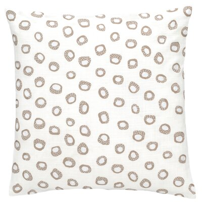 Thumbprint Throw Pillow Color: Linen and White