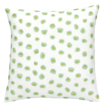 Thumbprint Throw Pillow Color: Sky and Green