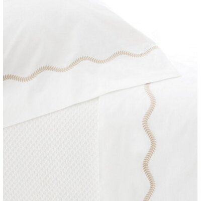 Petite Vine 400 Thread Count 100% Cotton Flat Sheet Size: Queen, Color: Linen