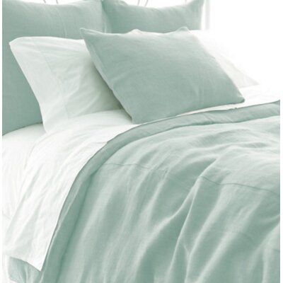Stone Washed Duvet Cover Size: King, Color: Sky