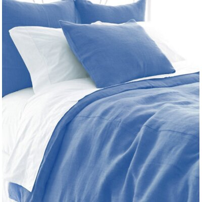 Stone Washed Duvet Cover Size: Twin, Color: French Blue