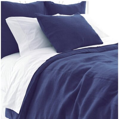 Stone Washed Duvet Cover Size: Queen, Color: Indigo