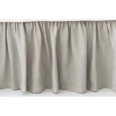 Stone Washed Paneled Bed Skirt Size: Full, Color: Gray