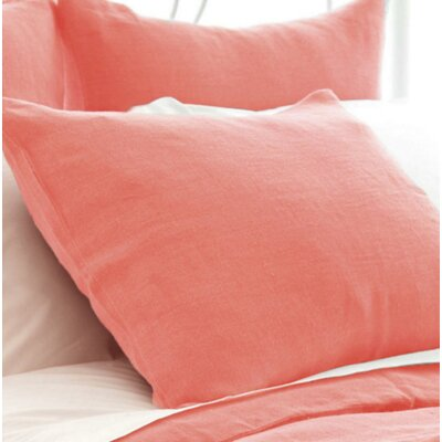 Stone Washed Sham Size: Standard, Color: Coral