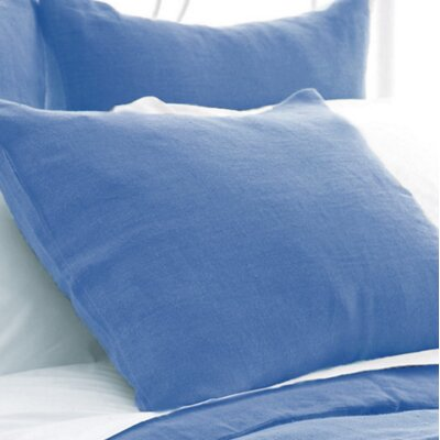 Stone Washed Sham Size: King, Color: French Blue