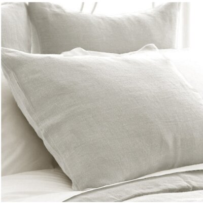 Stone Washed Sham Size: European, Color: Gray