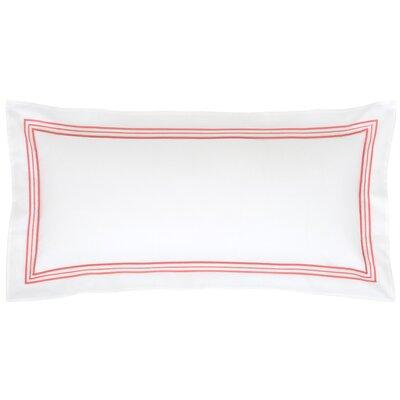 Trio Cotton Lumbar Pillow Color: Coral