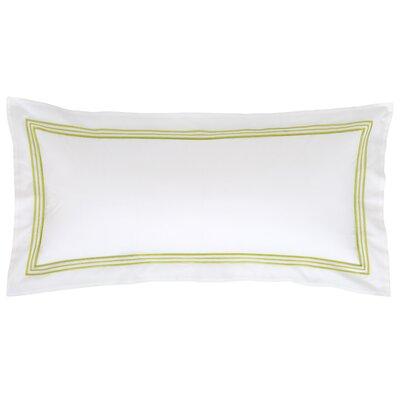 Trio Cotton Lumbar Pillow Color: Green