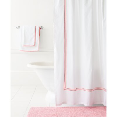 Trio Shower Curtain Color: Coral