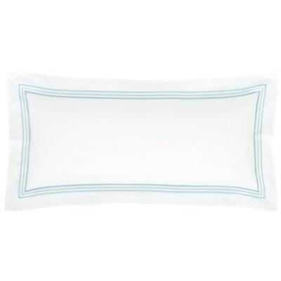 Trio Cotton Lumbar Pillow Color: Sky