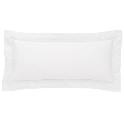 Trio Cotton Lumbar Pillow Color: White