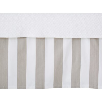 Alex Bed Skirt Size: Queen, Color: Pearl Gray