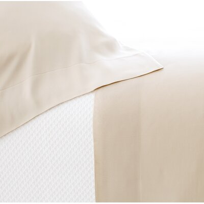 Silken Solid Pillowcase Color: Sand, Size: King