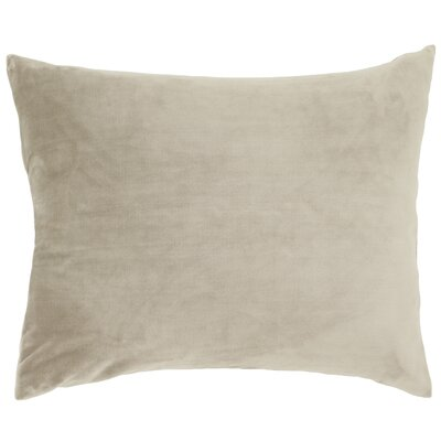 Selke Fleece Throw Pillow Color: Linen