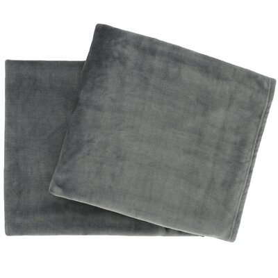 Selke Fleece Throw Blanket Color: Shale