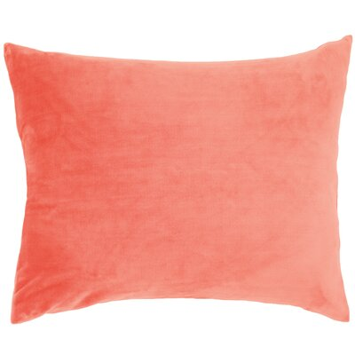 Selke Fleece Throw Pillow Color: Coral