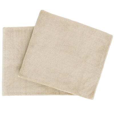 Selke Fleece Throw Blanket Color: Linen