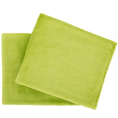Selke Fleece Throw Blanket Color: Green