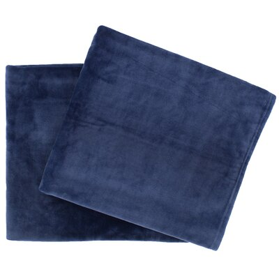 Selke Fleece Throw Blanket Color: Indigo