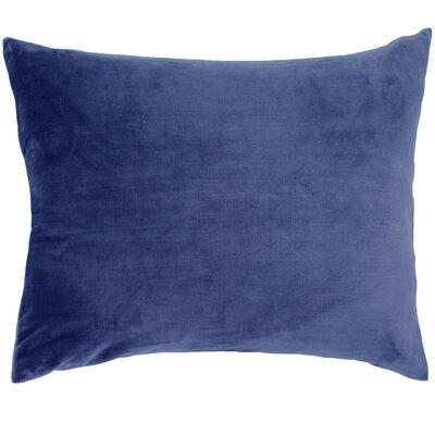 Selke Fleece Throw Pillow Color: Indigo